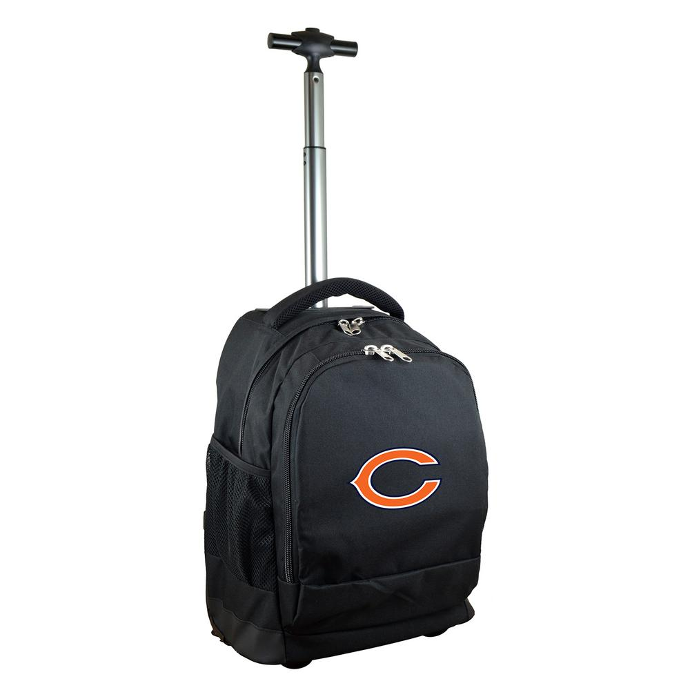 NFL Chicago Bears 19 in. Black Wheeled Premium Backpack
