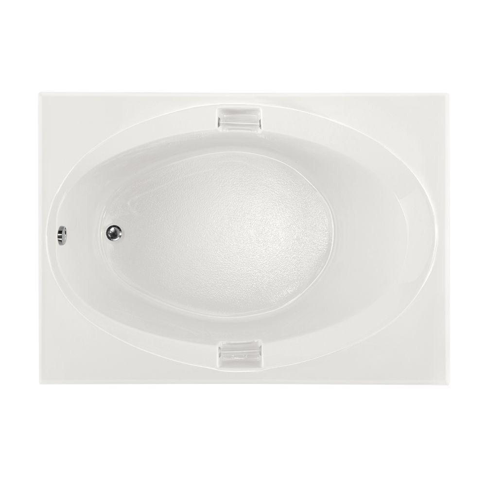 Studio 5 ft. Reversible Drain Air Bath Tub in White