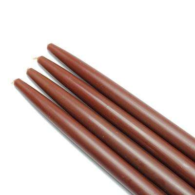 10 in. Brown Taper Candles (12-Set)