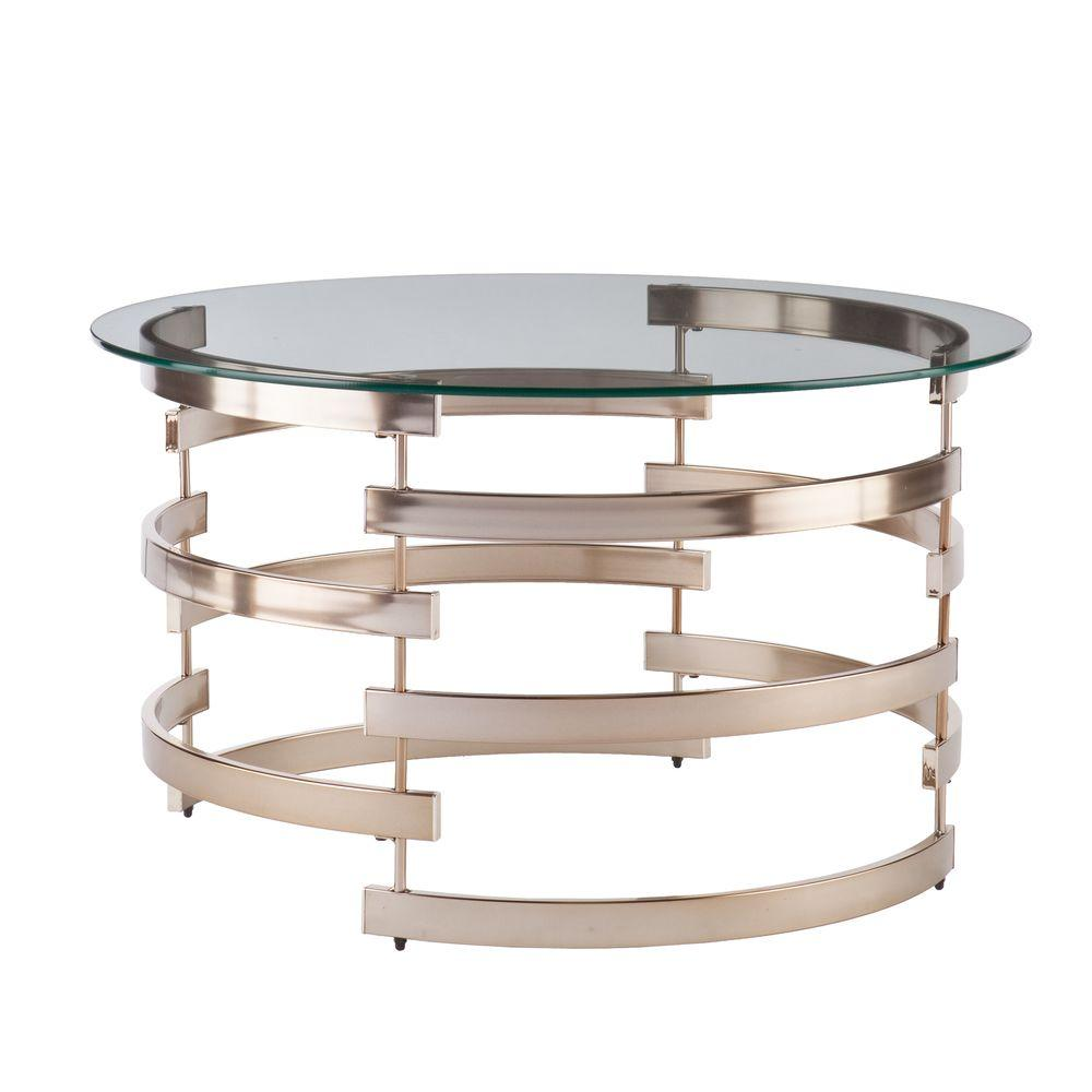 Southern Enterprises Raymond Champagne Coffee Table-HD865096 - The ...