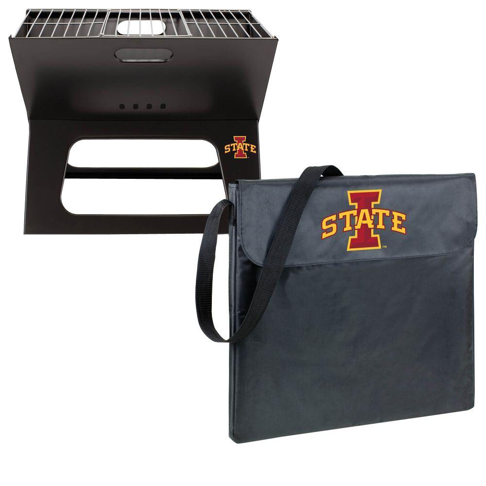X-Grill Iowa State Folding Portable Charcoal Grill