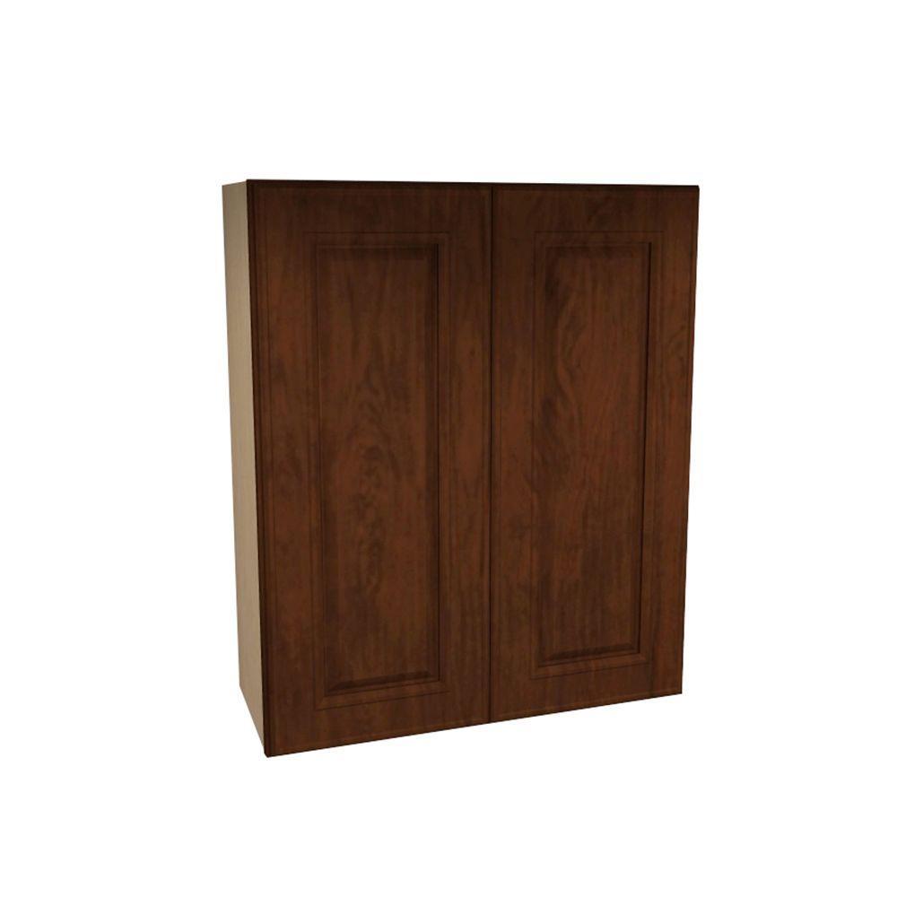 Roxbury Assembled 27x30x12 in. Double Door Wall Kitchen Cabinet in Manganite