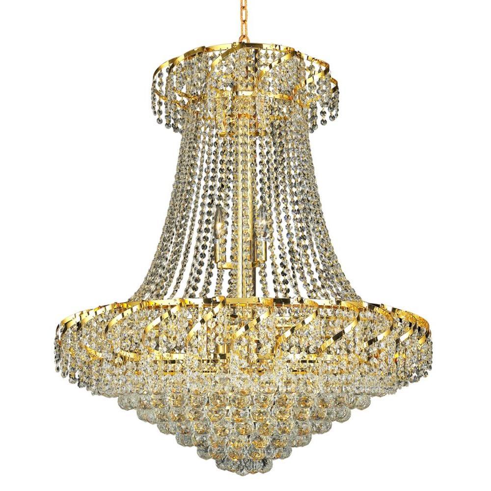 Elegant Lighting 18-Light Gold Chandelier with Clear Crystal