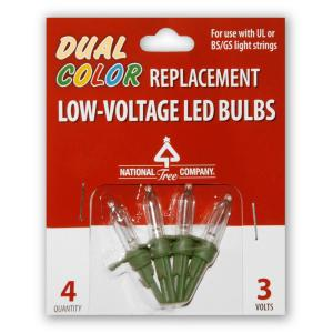 National Tree Company Replacement Dual Color Led Bulbs Rb 4lvd The Home Depot