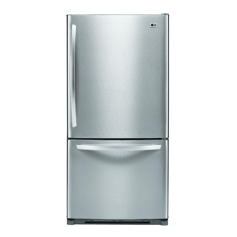 LG Electronics 22.4 cu. ft. Bottom Freezer Refrigerator in Stainless Steel-DISCONTINUED