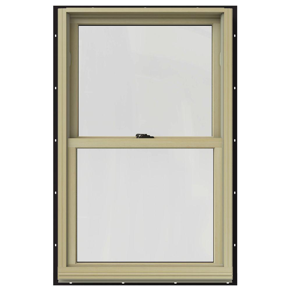 Jeld wen in x in w 2500 double hung clad for Best double hung windows reviews
