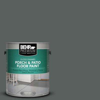 1 gal. #N460-6 Hematite Gloss Porch and Patio Floor Paint