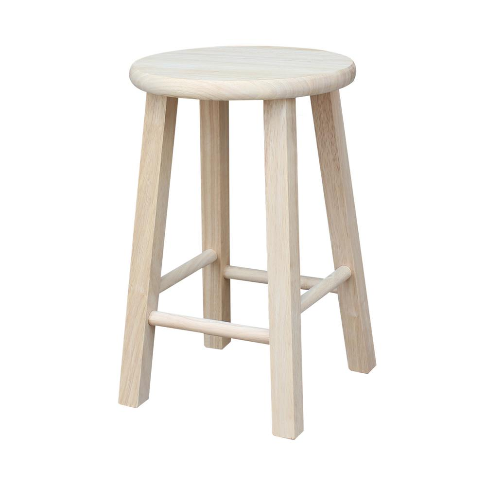 Amazing International Concepts 18 In Unfinished Wood Bar Stool 1S Onthecornerstone Fun Painted Chair Ideas Images Onthecornerstoneorg