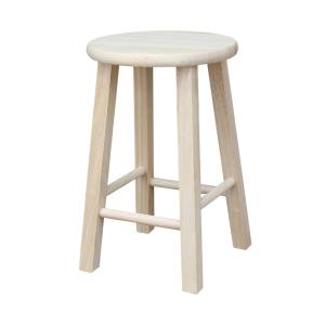 Phenomenal International Concepts 18 In Unfinished Wood Bar Stool 1S Gmtry Best Dining Table And Chair Ideas Images Gmtryco