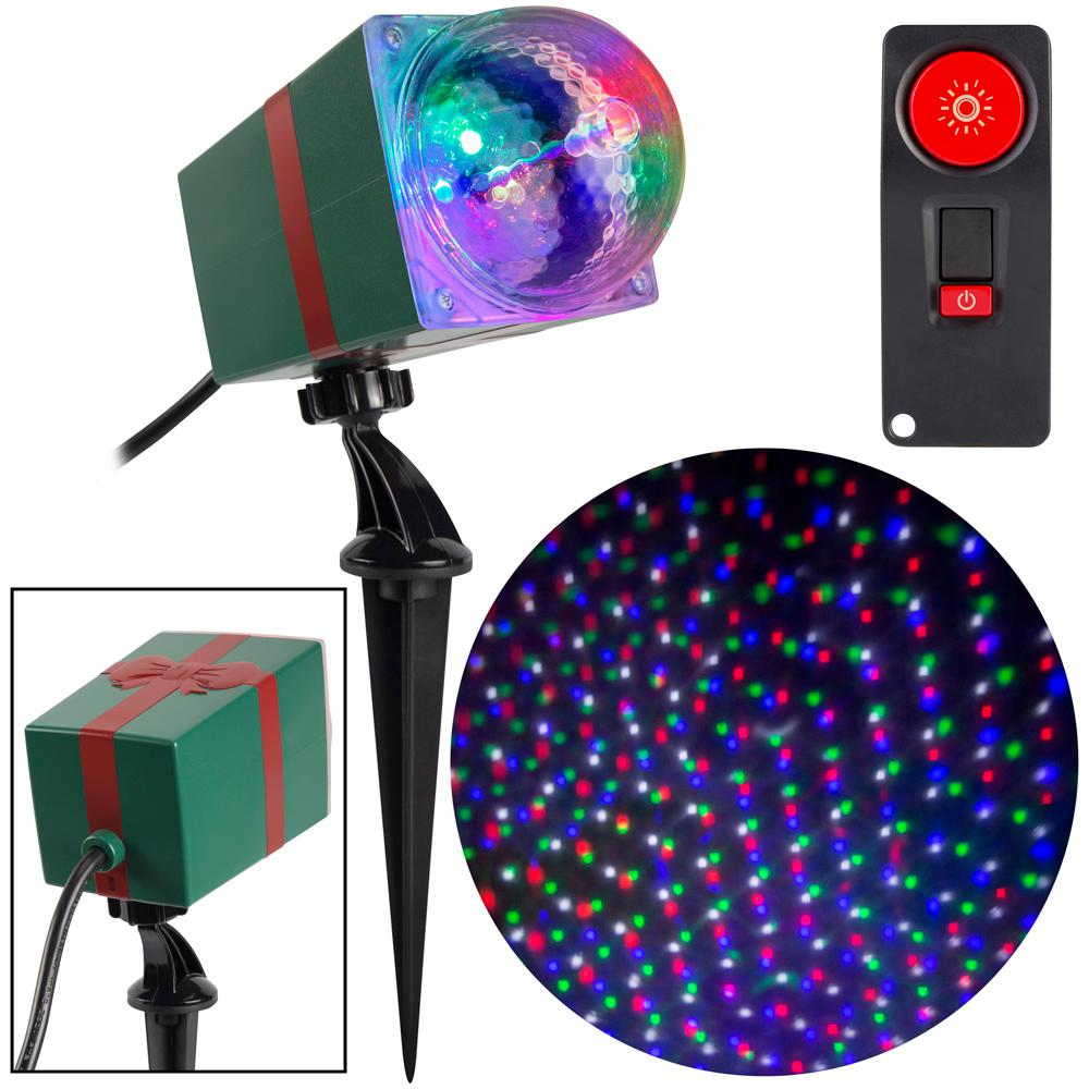 LightShow RGBW Christmas LightShow Projection StarSpinner with Remote
