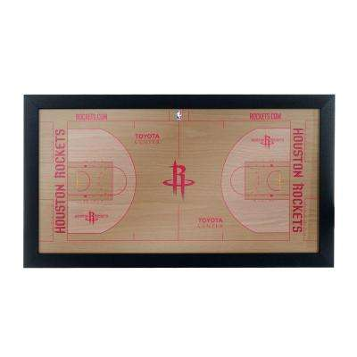 Houston Rockets Official NBA Court 15 in. x 26 in. Black Framed Plaque