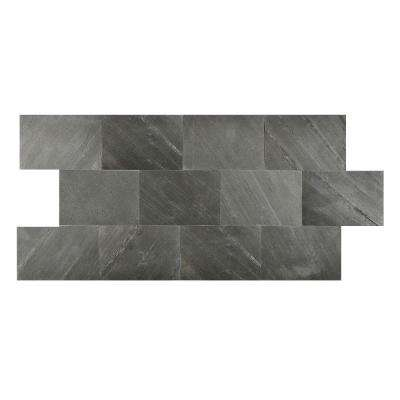 Black Line 6 in. x 9 in. Slate Peel and Stick Wall Tile (4.5 sq. ft. / pack)