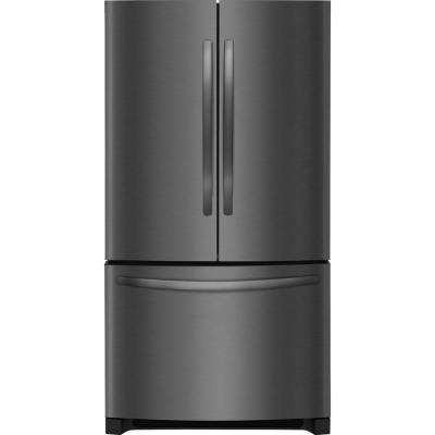 22 cu. ft. French Door Refrigerator in Black Stainless Steel Counter Depth ENERGY STAR Non Dispenser