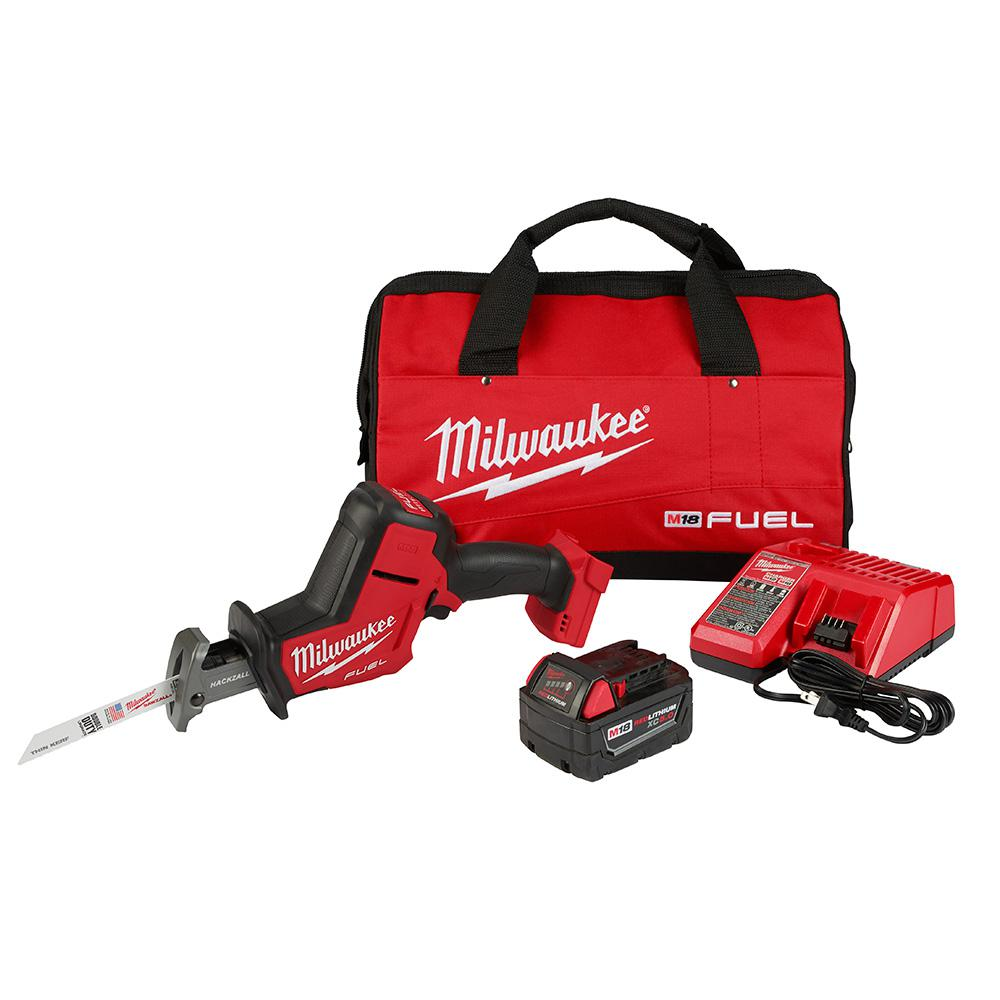 Milwaukee M18 FUEL 18-Volt Lithium-Ion Brushless Cordless HACKZALL Reciprocating Saw Kit W/(1) 5.0Ah Batteries, Charger & Tool Bag