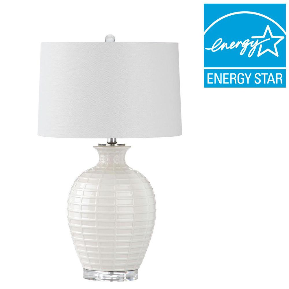 Safavieh Shultz 23 5 In White Table Lamp Lit4251a The Home Depot