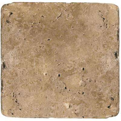 Trav Ancient Tumbled Mocha 15.75 in. x 15.75 in. Travertine Floor and Wall Tile