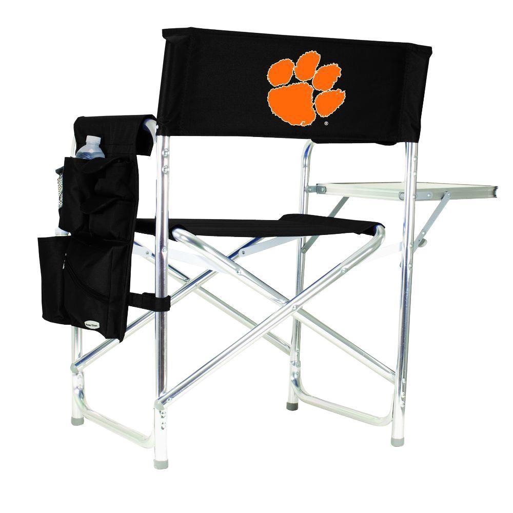 Clemson University Black Sports Chair with Digital Logo