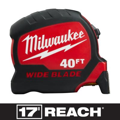 40 ft. x 1.3 in. Wide Blade Tape Measure with 17 ft. Reach