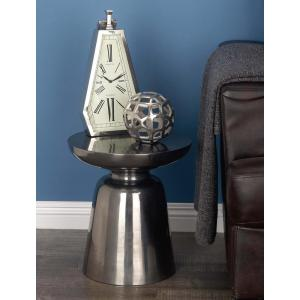 Aluminum Inverted Dome Accent Table in Silver by