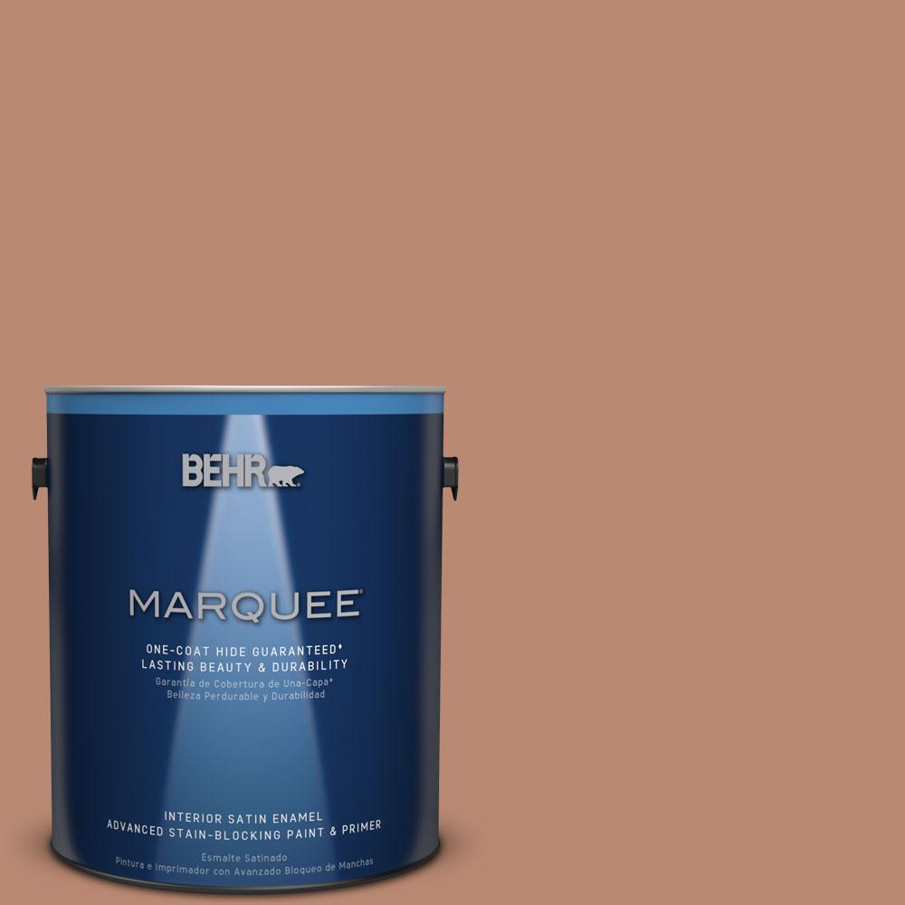1 gal. #MQ1-29 Carmelite One-Coat Hide Satin Enamel Interior Paint