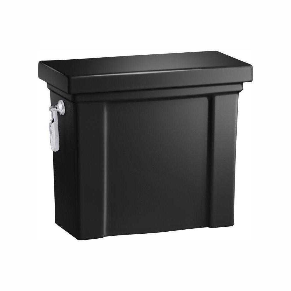 Tresham 1.28 GPF Single Flush Toilet Tank Only with AquaPiston Flushing Technology in Black Black