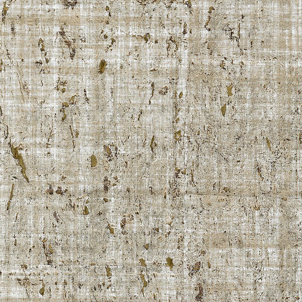 Kenneth James 72 sq. ft. Samal Taupe Cork Wallpaper