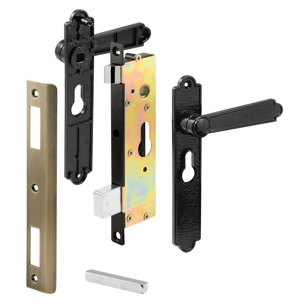 Heavy Duty Black Security Door Mortise Latch
