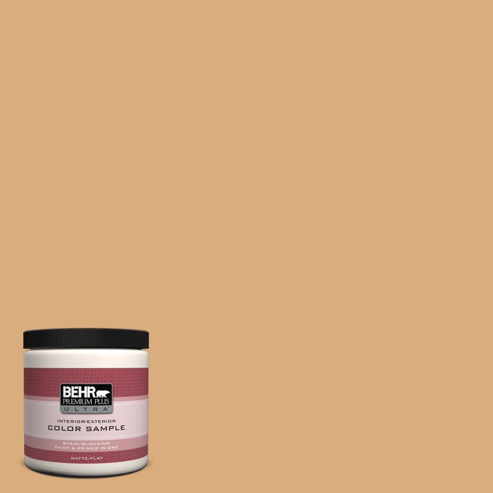 BEHR Premium Plus Ultra 8 oz. #PPU6-5 Cork Interior/Exterior Paint Sample