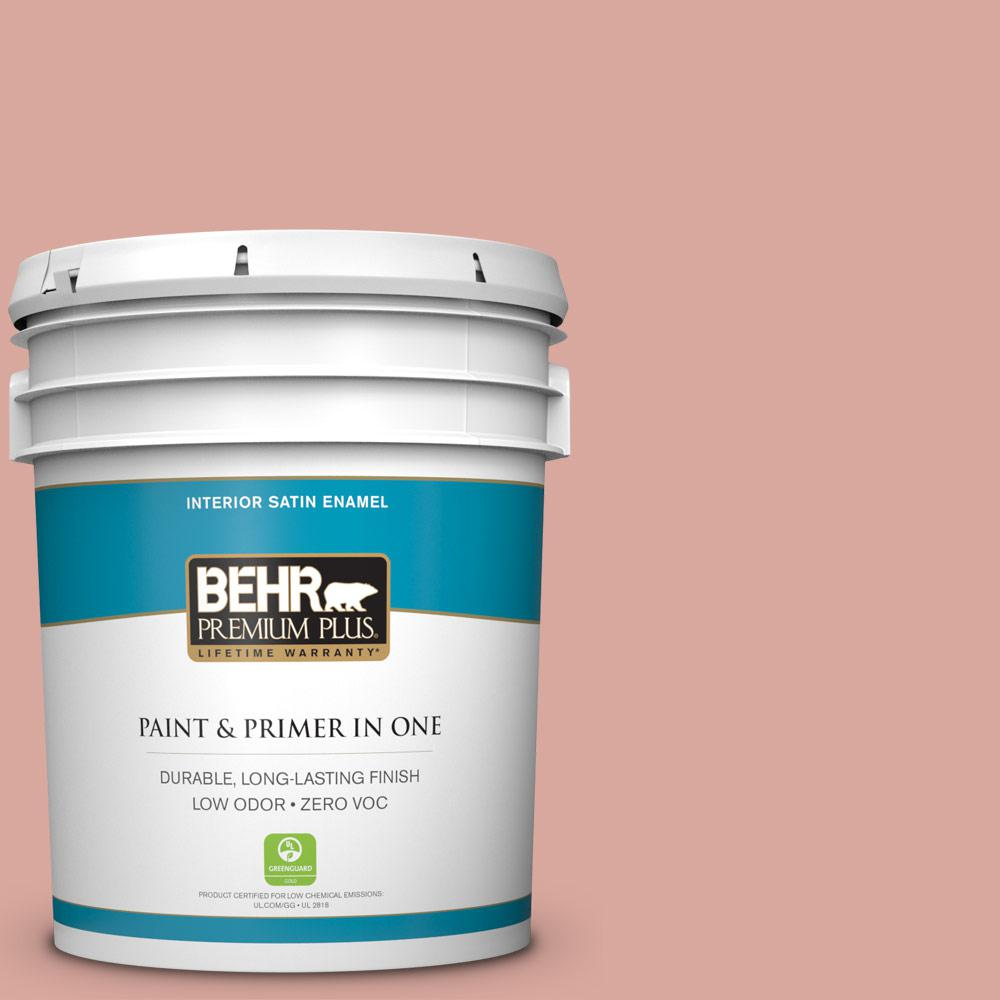 5-gal. #PMD-70 Cottage Rose Zero VOC Satin Enamel Interior Paint