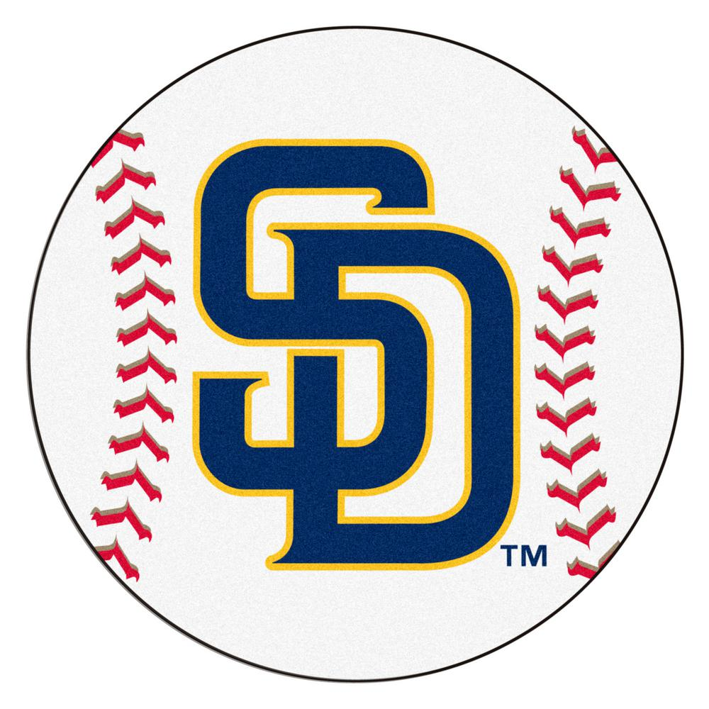 Fanmats Mlb San Diego Padres White 2 Ft 3 In X 2 Ft 3