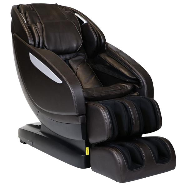 Infinity Infinity Altera Brown L-Track Massage Chair with Spinal Correction and