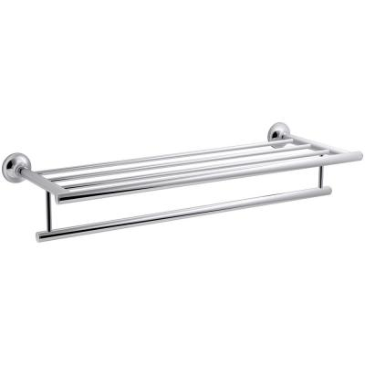 Coralais 24 in. Hotelier Towel Rack in Polished Chrome