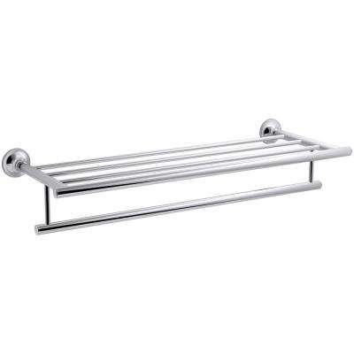 Hotelier Towel Rack In Polished Chrome