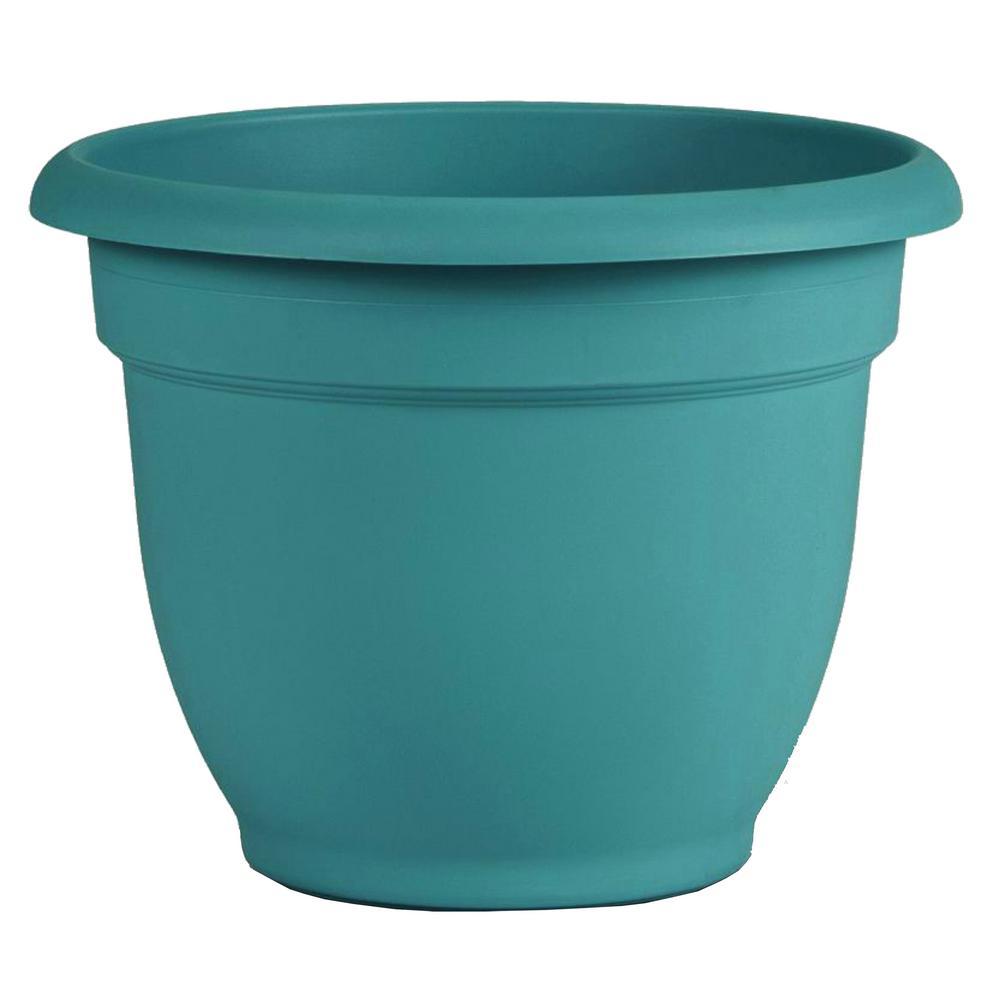 Ariana 8 in. x 7 in. Bermuda Teal Plastic Self Watering Planter