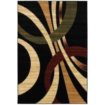 Grace Black 5 ft. x 7 ft. Plush Indoor Area Rug