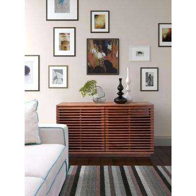 Linea Walnut Storage Cabinet