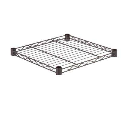 18 in. W x 18 in. D Steel Shelf, 350 lbs. Capacity in Black