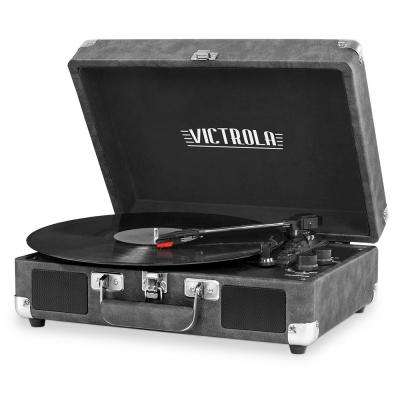 Bluetooth Suitcase Record Player with 3-Speed Turntable