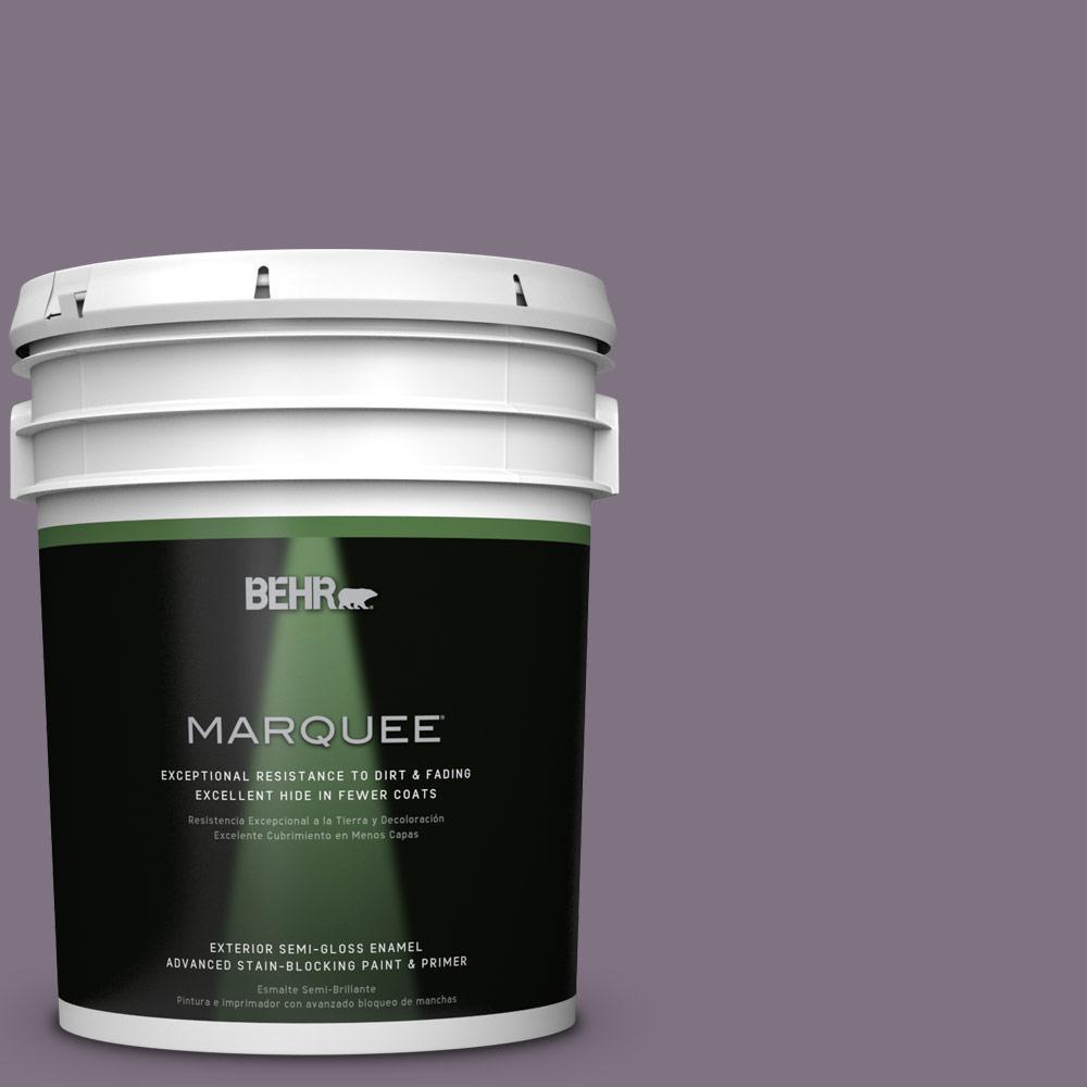 BEHR MARQUEE 5-gal. #N100-5 Plush Velvet Semi-Gloss Enamel Exterior Paint