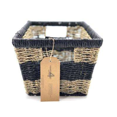 12.75 in. W x 9 in. D x 7 in. H Modern Shelf Wicker Baskets (Set of 2)