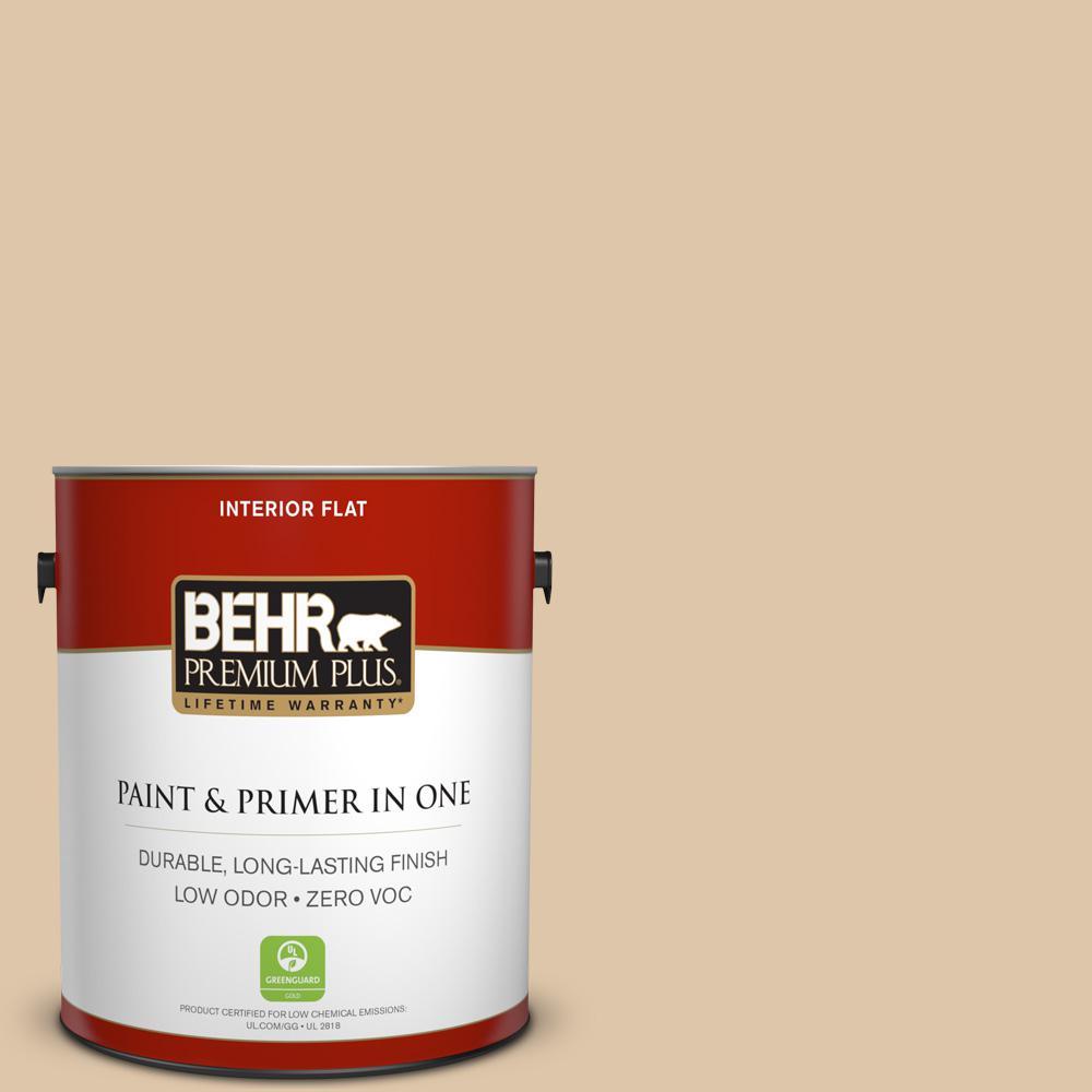 1 gal. #PPU4-13 Sand Motif Zero VOC Flat Interior Paint