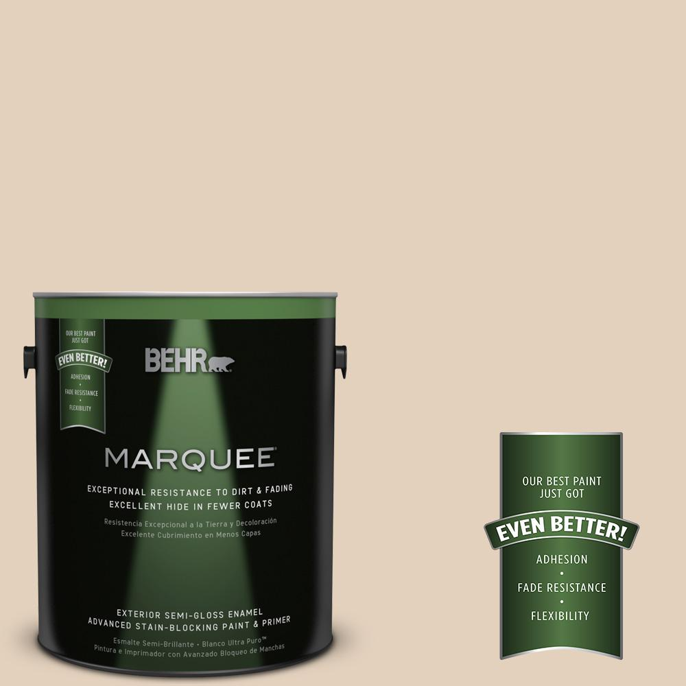 BEHR MARQUEE 1-gal. #ICC-21 Baked Scone Semi-Gloss Enamel Exterior Paint