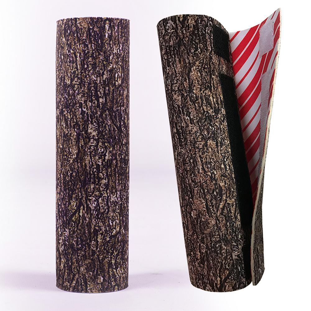 8.5 in. Christmas Tree Hugger Brown Bark Christmas Tree Skirt Base Pole Wrap