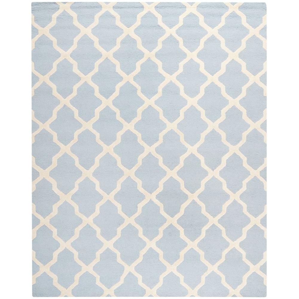 Safavieh Cambridge Light Blue Ivory 8 Ft X 10 Ft Area