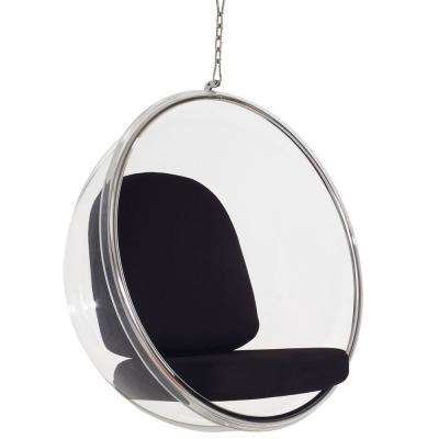 Ring Black Lounge Chair
