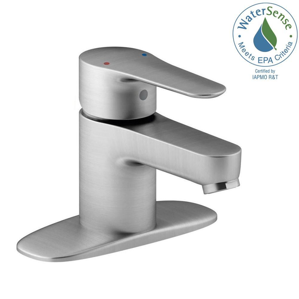 Kohler July Single Hole Single Handle Low Arc Water Saving Bathroom Faucet In Brushed Chrome K