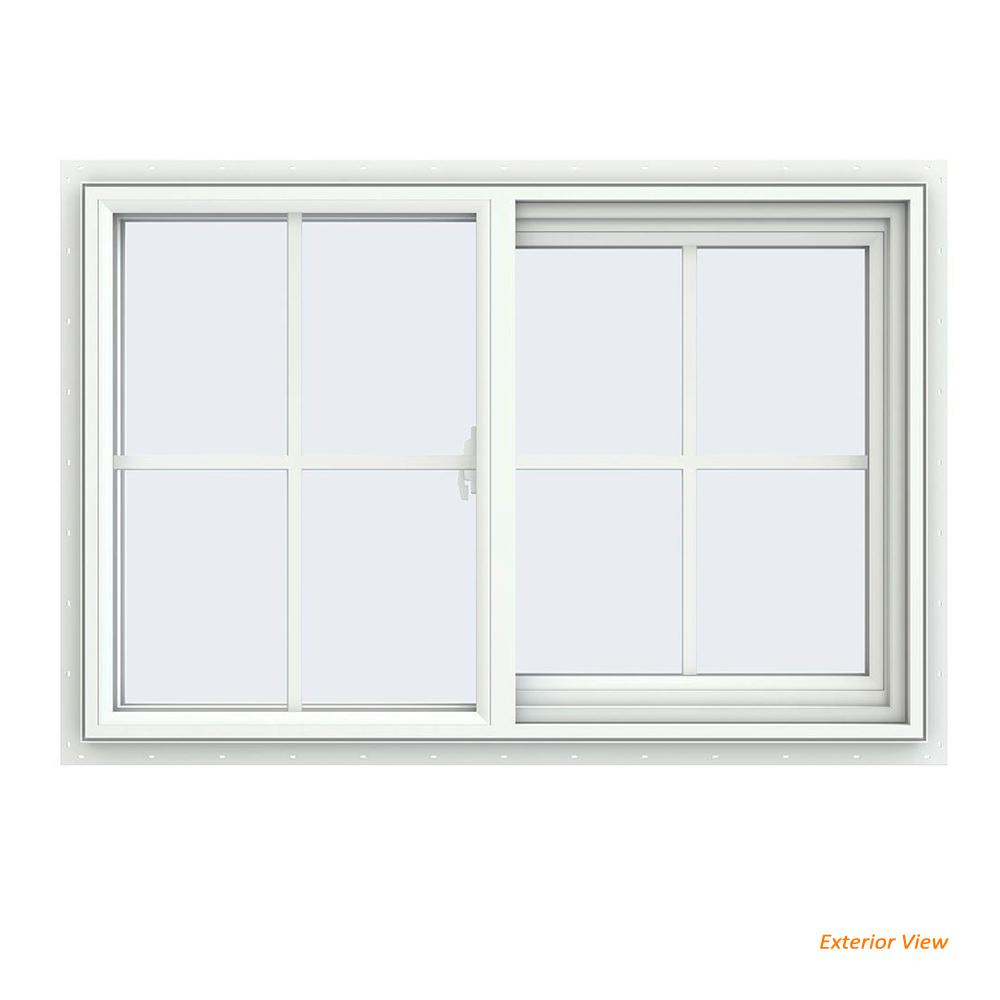 Hand Sliding Vinyl Window Series Right Grids Traditional