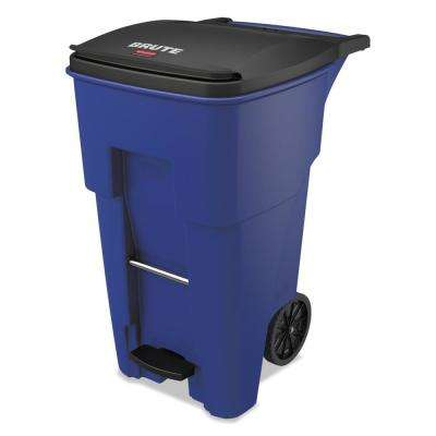 Brute Step-On Rollouts, Square, 65 Gal., Blue