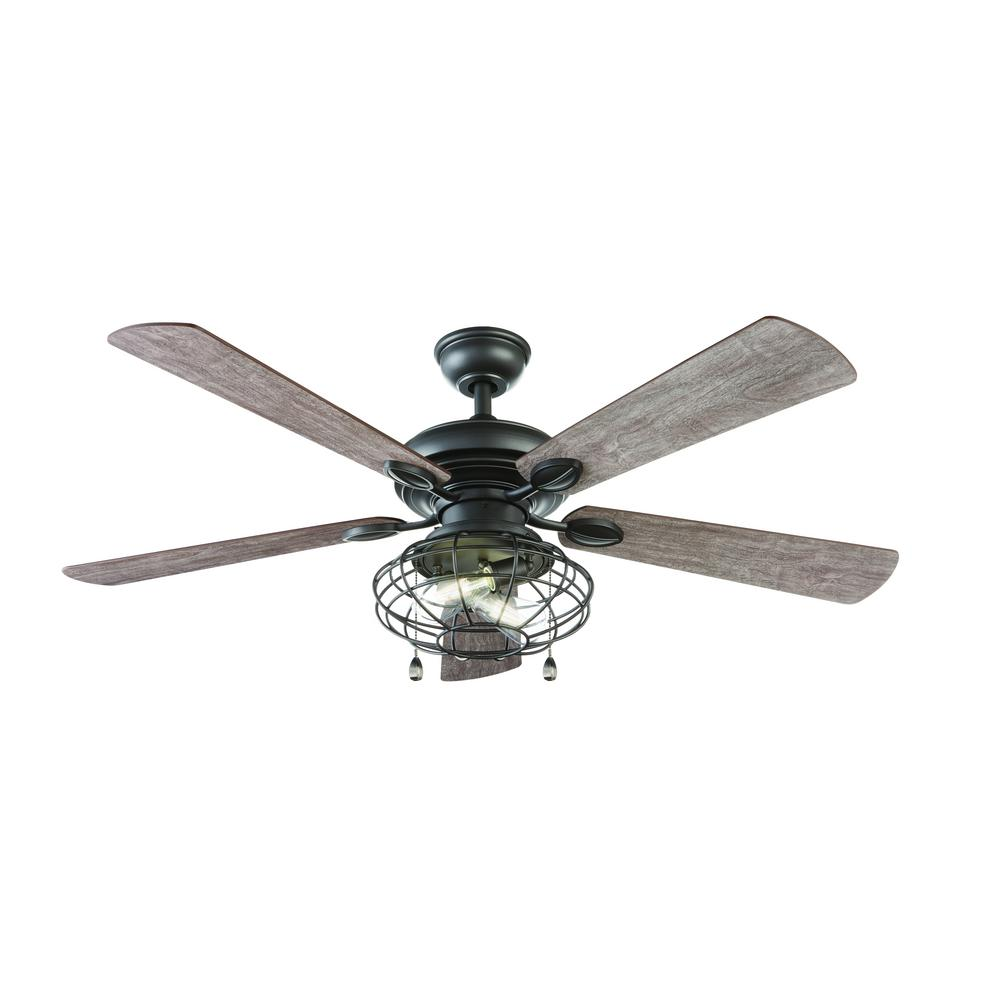 LED Indoor Natural Iron Ceiling Fan