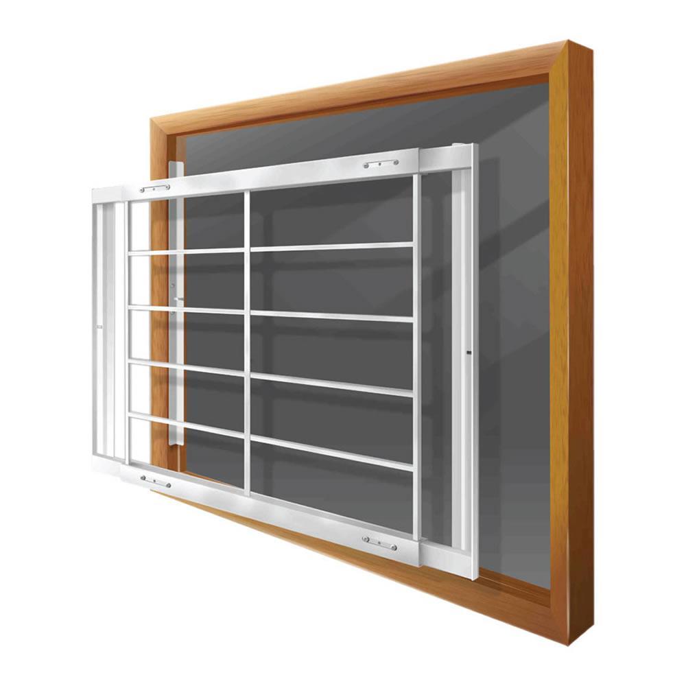 Elegant Adjustable Width 6 Bar Window Guard,